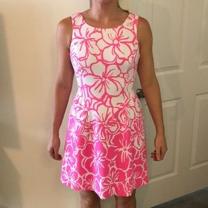 Pink and white floral Lilly dress